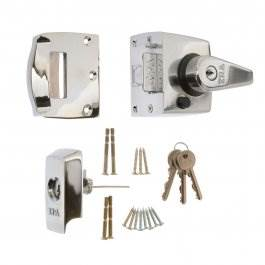 View Era 40mm High Security Nightlatch BS3621 Chrome (1830-37)