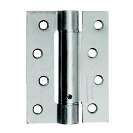 View Excel Spring Hinge 102 X 76mm Satin Chrome 3 Hinge Pack
