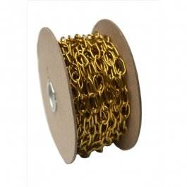 View 242 10Mm Brass Oval Link Chain