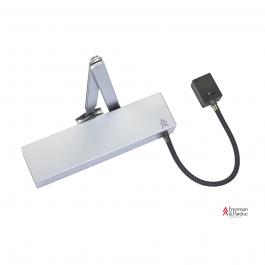 View Arrow 623U Electro Magnetic Door Closer Silver with Black Arm