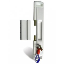 View Cal Slide-Lok Locking White Patio Door Lock