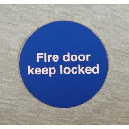 View Fire Door Keep Locked 60Mm Plastic Self Adhesive Sign