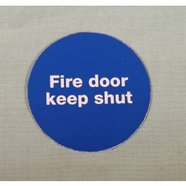 View Fire Door Keep Shut 60Mm Plastic Self Adhesive Sign