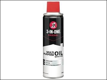 3 In One Oil 250ml Spray Tin Ptfe Lubricants Seals