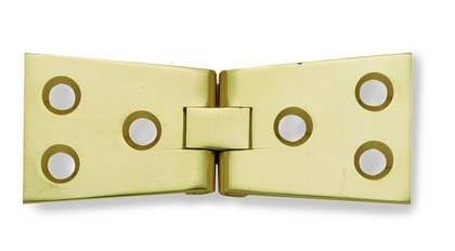 500 25 X 76Mm Polished & Lacquered Brass Counter Flap Door Hinge