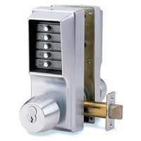 Unican 1041 Satin Chrome Digital Door Lock With Key Bypass