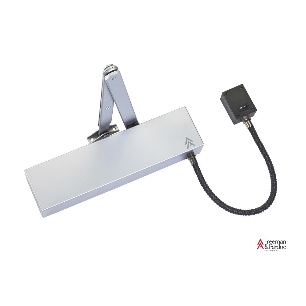 Arrow 623U Electro Magnetic Door Closer Silver with Black Arm  sc 1 st  Doorfit & Arrow 623U Electro Magnetic Door Closer Silver with Black Arm ...