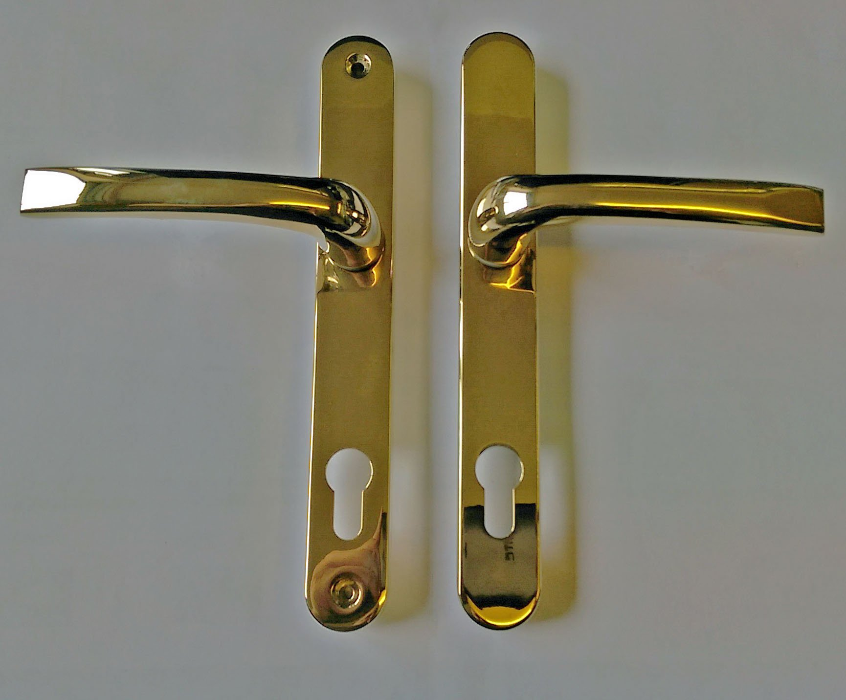 Mila 050424 Pro-Linea Gold PVD Lever Door Handle - Multipoint Door ...