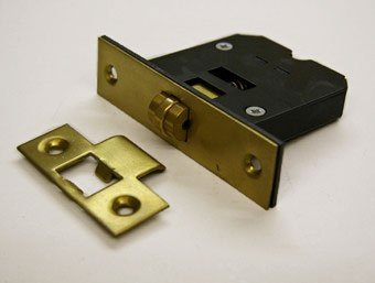 Guardian G4072 63Mm Satin Brass Mortice Roller Bolt Door Latch