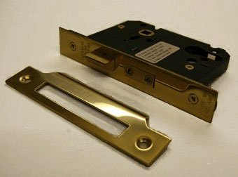 Guardian G7000 76mm P Brass Euro Sash Door Lock Case Only