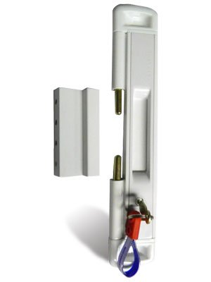 Cal Slide-Lok Locking White Patio Door Lock