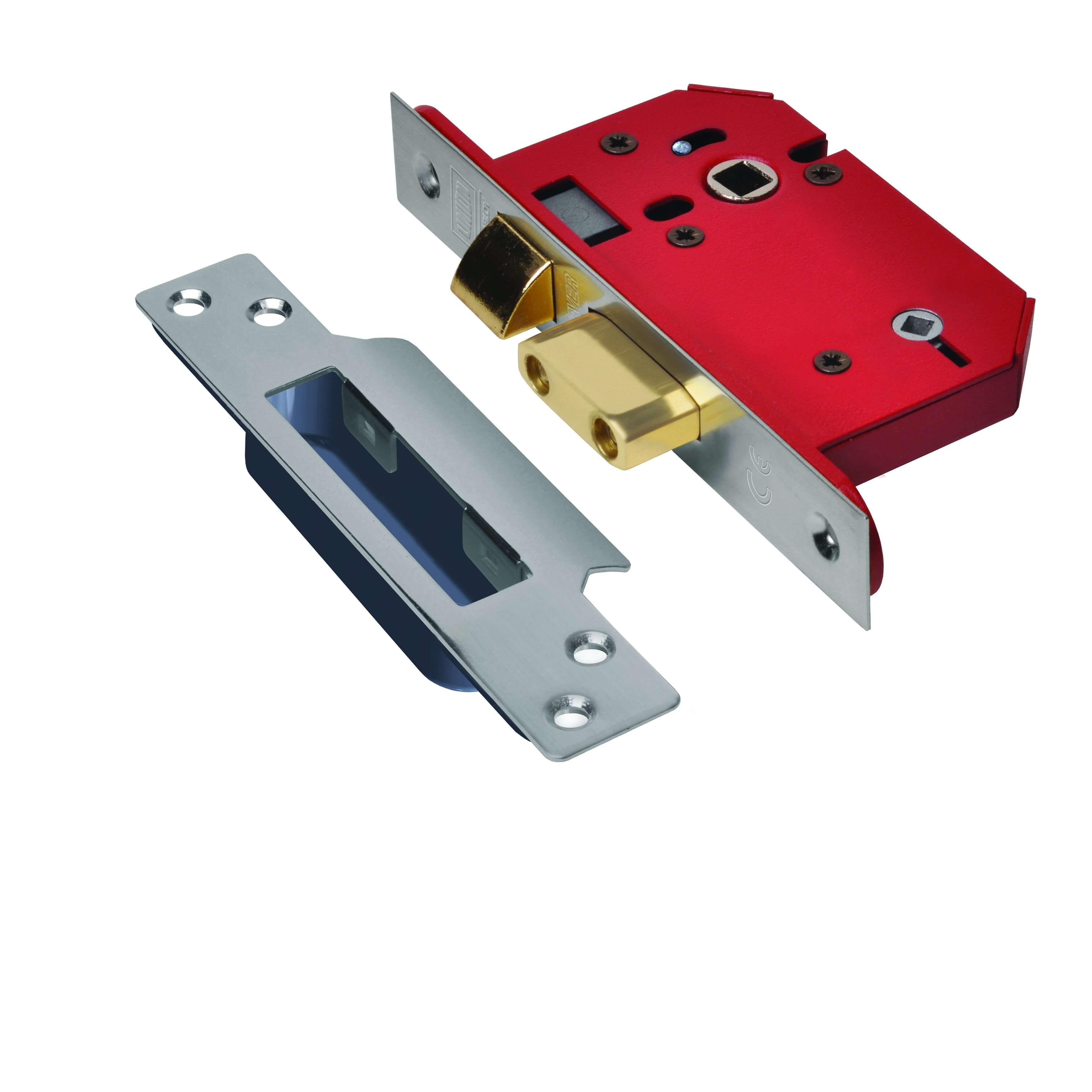 Union Strongbolt Bathroom Lock Satin Stainless 76mm J22WCS