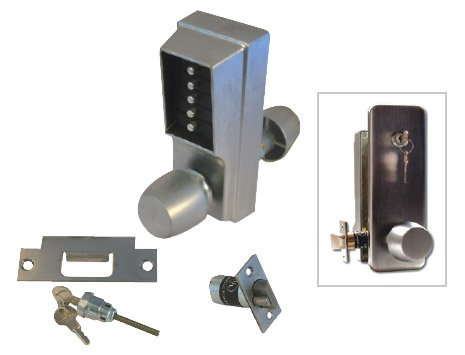 Unican 1011-26D-41 Satin Chrome Standard Digital Door Lock With Knob  sc 1 st  Doorfit & Unican 1011-26D-41 Satin Chrome Standard Digital Door Lock With Knob ...