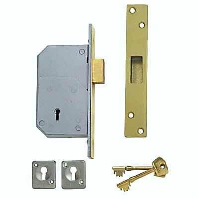 Union (Chubb At Heart) B-3G110 73Mm Brass 5 Detainer Deadlock Door Lock