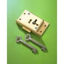 243 Brass 63mm Left Hand 2 Lever Cut Cupboard Lock To Differ