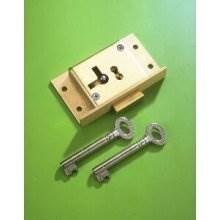 243 Brass 63mm Right Hand 2 Lever Cut Cupboard Lock To Differ