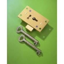 249 Brass 76mm 4 Lever Straight Cupboard Lock To Differ