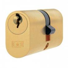 Cya72260 P.Brass 60Mm Oval Double Cylinder
