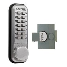 Lockey 2230 Satin Chrome Nl Digital Door Lock For Use With Panic Latch