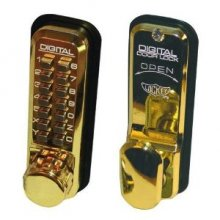 Lockey 2435 Brass Digital Door Lock With Hold Back