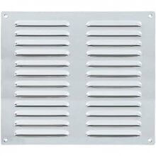 305 x 305mm Louvre Vent Polished Stainless HD5637