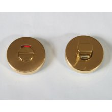 In3Bt Polished Brass Turn & Indicator On Round Roses