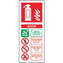 Water En3 Extinguisher 202Mm X 82Mm Rigid Plastic Sign