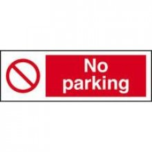 No Parking 300Mm X 100Mm Rigid Plastic Sign