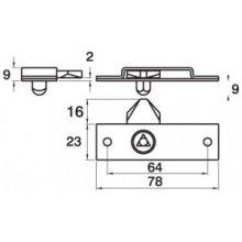 Brass Meter Budget Lock No Striker Or Ferrules Or Key