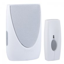 Byron BY201W White Wirefree Portable Door Chime Kit 100M Range