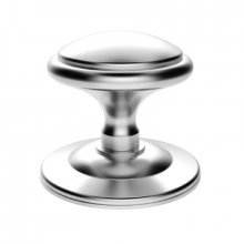 M61SC Round Centre Door Knob Satin Chrome