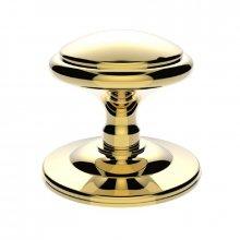 M61 Round Centre Door Knob Polished Brass