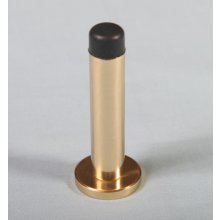 Aa23 Polished Brass 76Mm Projection Door Stop
