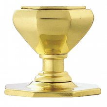 M33 P.Brass Victorian Octagonal Centre Door Knob