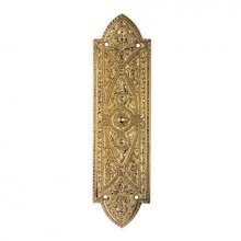 Mb1 260Mm X 70Mm Brass Old English Beaded Finger Plate