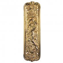 Mb2 270Mm X 76Mm Brass Old English Art Nouveau Finger Plate