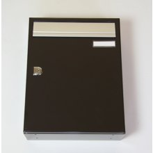 City 2 Letter Box Black Wall Mount
