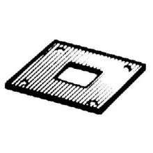 484 16Mm Galvanised Receiver Plate For Square Bolt