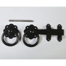 1136 152Mm Ring Gate Catch Black Japanned