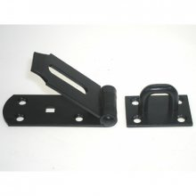 149/H 254Mm Epoxy Black Heavy Hasp & Staple