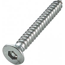 """10 X 1 1/2"""" Tamper Resistant S.S.S Pin Hex Self Tapping Csk Screws"""