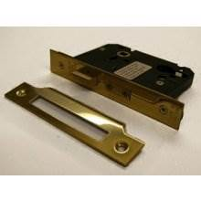 Guardian Y7000 76Mm P.Brass Euro sash door lock Case Only