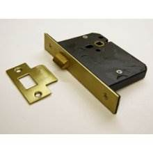Guardian G4053 76Mm P.Brass Mortice Door Latch Standard Case