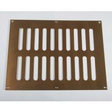 Hd3759 305 X 229Mm P.Brass Plain Slot Vent