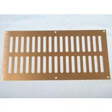 Hd3766 305 X 152Mm P.Brass Plain Slot Vent