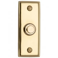 V1180 Polished Brass Bell Push