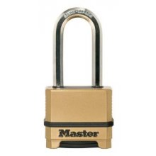 Master Excell M175DLH 55mm Combination Padlock Long Shackle