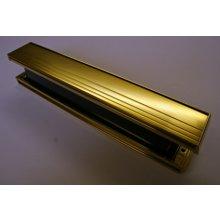 Slimline Polished Gold Letter Box 326mm X 51mm