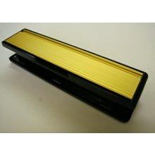 Mila Grand Contoura 110688W Gold/Black Frame Letter Plate 295Mm X 66Mm