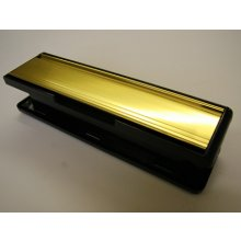 Mila Master 110465W Pol Gold/Black Frame 265Mm X 70Mm Combination Letter Plate